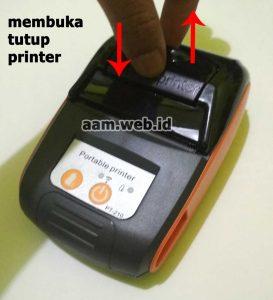 Cara membuka tutup kertas printer