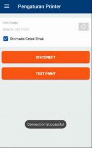 menghubungkan printer bluetooth sukses