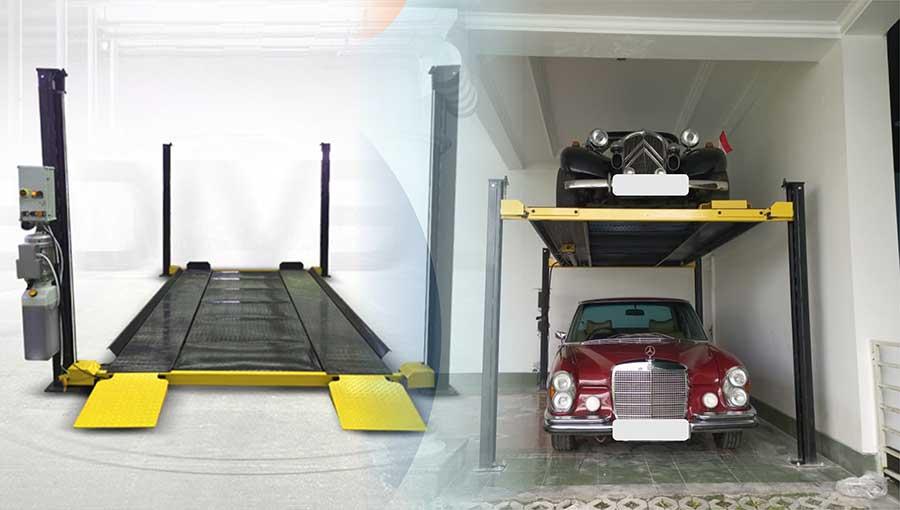 Garasi Rumah Mewah Minimalis carlift
