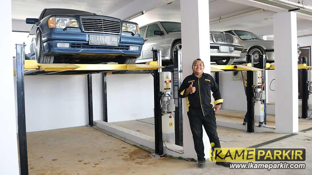 garasi basement rumah car lift parkir