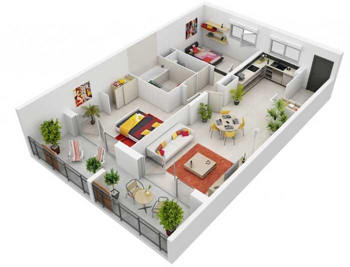 desain rumah minimalis dengan 2 kamar